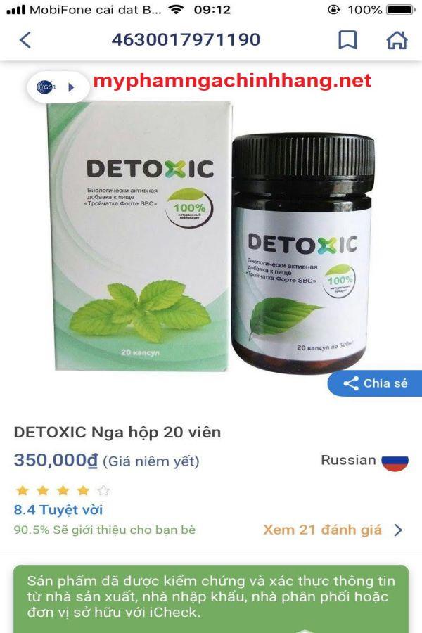 detoxic chinh hang