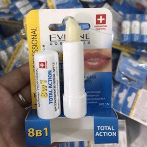 Son dưỡng môi 8in1 Eveline trị thâm Total Action Lips
