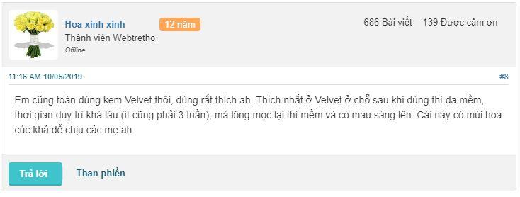 Review Kem Tẩy Lông Velvet Nga Có Tốt Không, Giá Bao Nhiêu 1