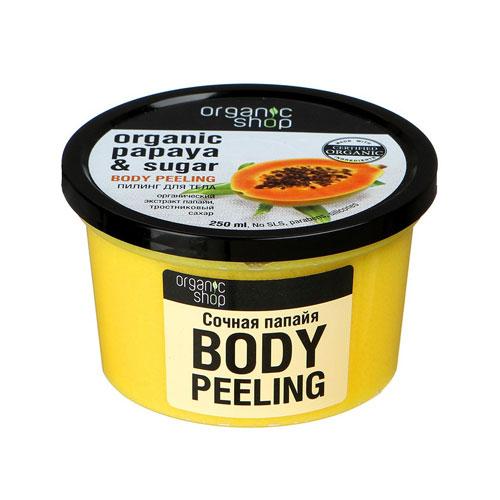 Kem tẩy da chết toàn thân vị Đu đủ Organic Shop Body Peeling