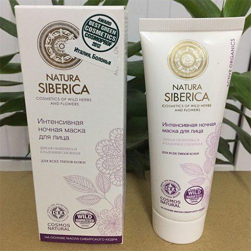Mặt nạ ngủ Natura Siberica giúp dưỡng trắng da vào ban đêm